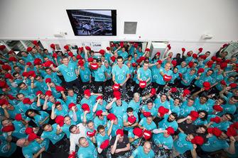 Celebración del Campeonato Mundial. Mercedes AMG F1 2018