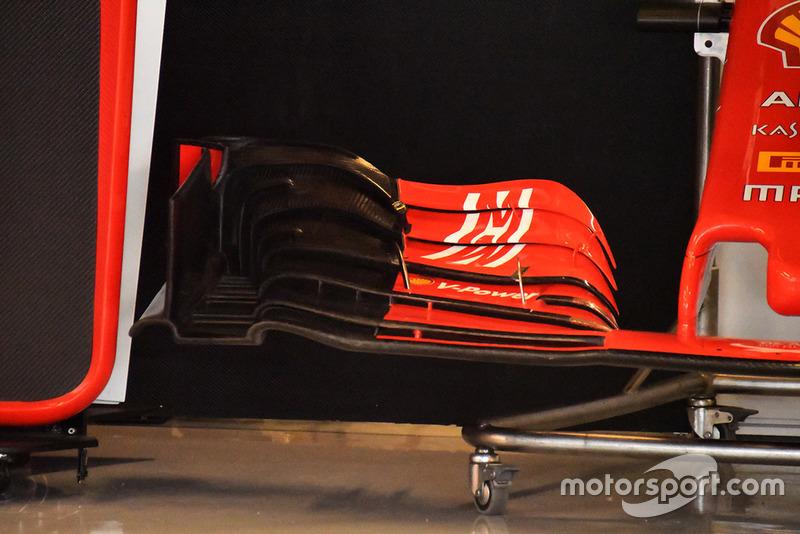 Ferrari SF71H, első szárny, részlet