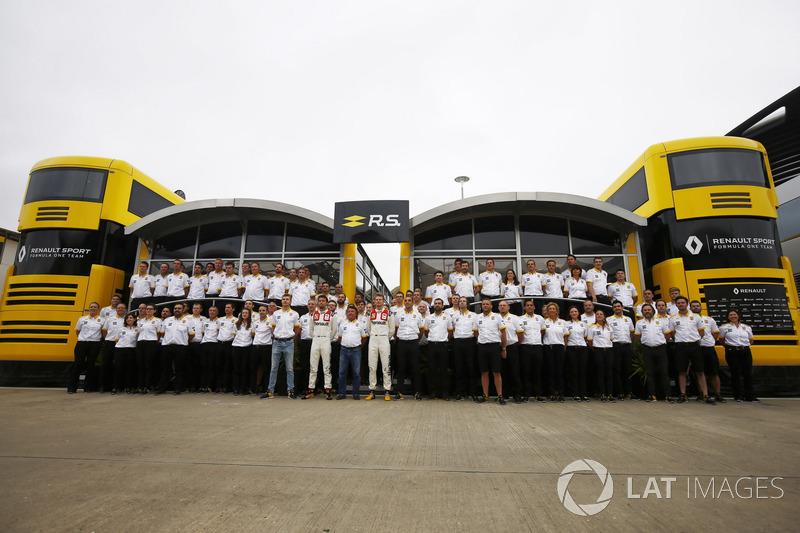 Сергій Сироткін, Джоліон Палмер, Ніко Хюлькенберг, Renault Sport F1 Team