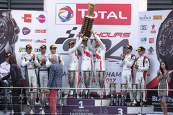Podium: 1. #25 Audi Sport Team Sainteloc Racing Audi R8 LMS: Markus Winkelhock, Christopher Haase, Jules Gounon; 2. #8 Bentley Team M-Sport Bentley Continental GT3: Andy Soucek, Maxime Soulet, Vincent Abril; 3. #90 Akka ASP Mercedes-AMG GT3: Michael Meadow