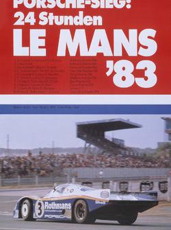 Poster: Porsche-Sieg bei den 24h Le Mans 1983