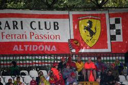 Ferrari fans and banners