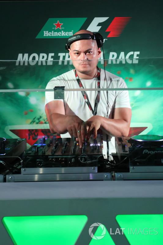 DJ bei F1-Party in Singpaur