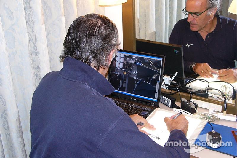 Giorgio Piola en el trabajo