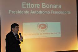 Pressekonferenz, Ettore Bonara, Präsident Autodromo Franciacorta