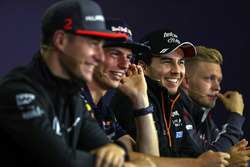 Stoffel Vandoorne, McLaren, Max Verstappen, Red Bull Racing, Sergio Perez, Force India, Kevin Magnussen, Haas F1
