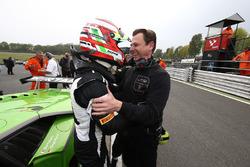 Polesitter Mirko Bortolotti, GRT Grasser Racing Team with team owner Gottfried Grasser