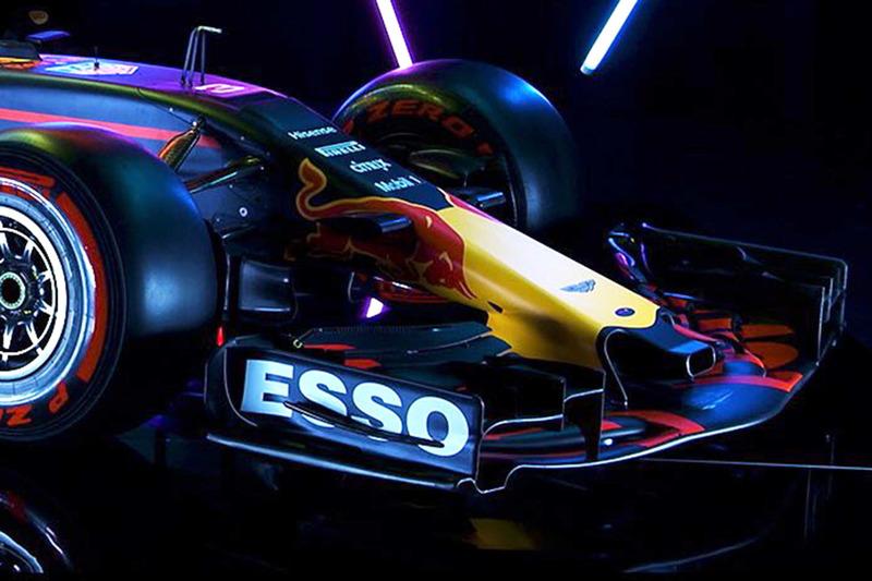 Red Bull Racing RB13 detail van de voorkant
