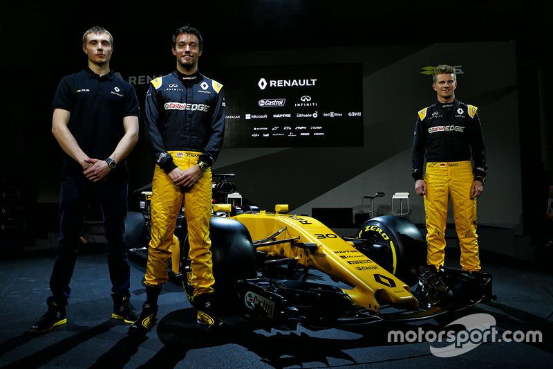 Nico Hülkenberg, Jolyon Palmer, Sergey Sirotkin und der Renault RS17