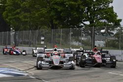 Will Power, Team Penske, Chevrolet; Mikhail Aleshin, Schmidt Peterson Motorsports, Honda
