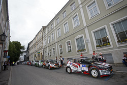 Rally di Estonia, auto in fila