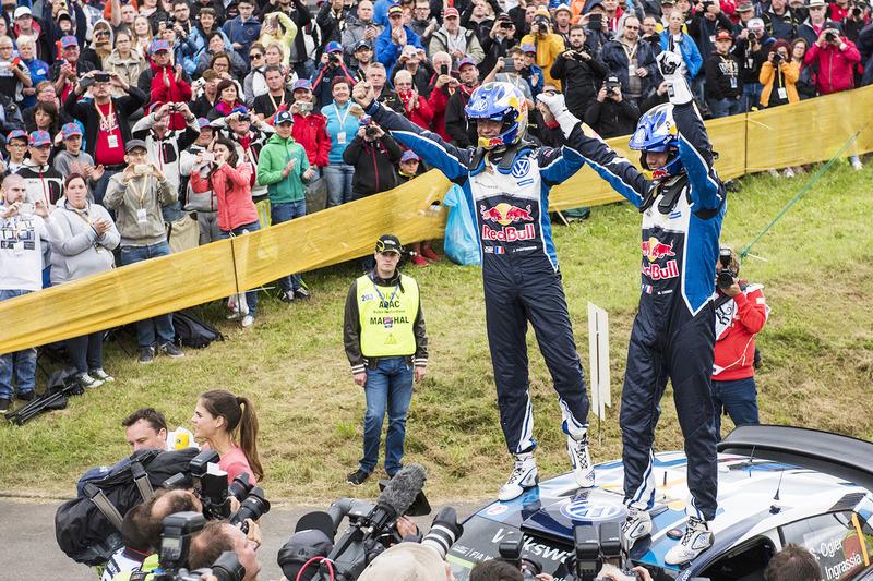 I vincitori Sébastien Ogier, Julien Ingrassia, Volkswagen Polo WRC, Volkswagen Motorsport