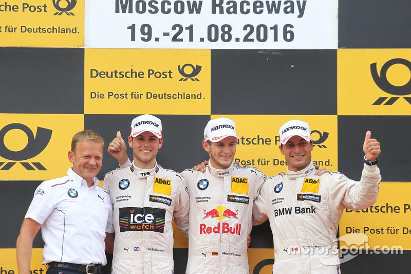 1. Marco Wittmann, 2. Tom Blomqvist, 3. Bruno Spengler