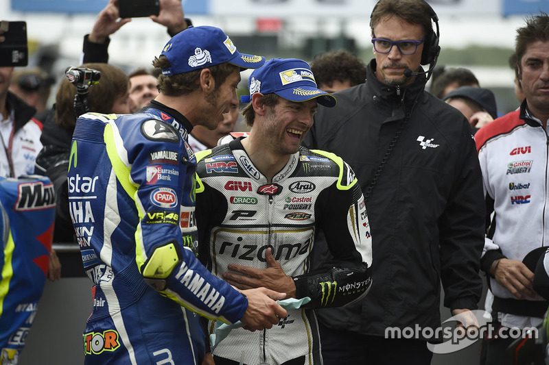 Polesitter Cal Crutchlow, Team LCR Honda, second position Valentino Rossi, Yamaha Factory Racing