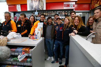 La visite de Marc Márquez à Villamartin