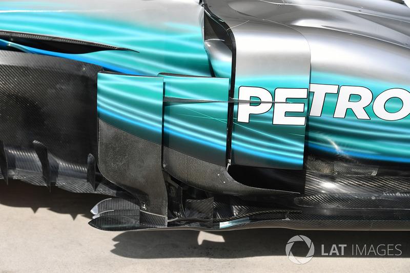 Область дефлектора Mercedes F1 W08