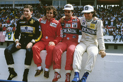 I contendenti al titolo del 1986, Ayrton Senna, Lotus, Alain Prost, McLaren, Nigel Mansell, Williams, Nelson PIquet, Williams