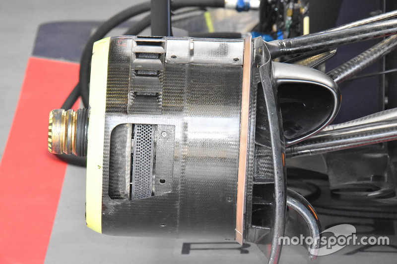 Red Bull Racing RB14 front brake drum detail