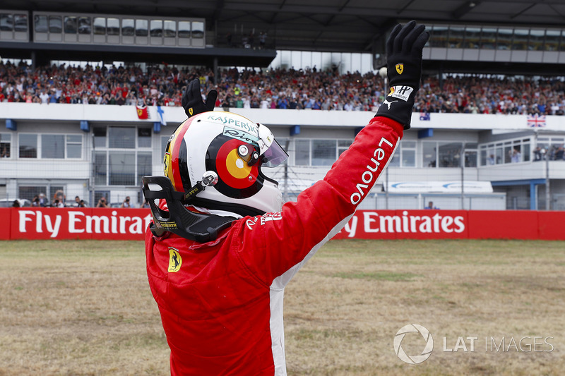 Sebastian Vettel, Ferrari, tras lograr la pole