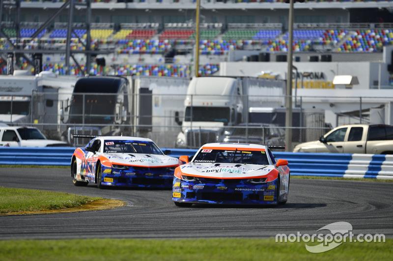 #72 TA2 Chevrolet Camaro: Shane Lewis of Robinson Racing, #74 TA2 Chevrolet Camaro: Gar Robinson of Robinson Racing