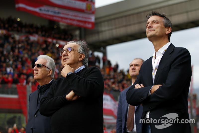 Piero Lardi Ferrari, Ferrari Başkan yardımcısı ve Sergio Marchionne, CEO FIAT