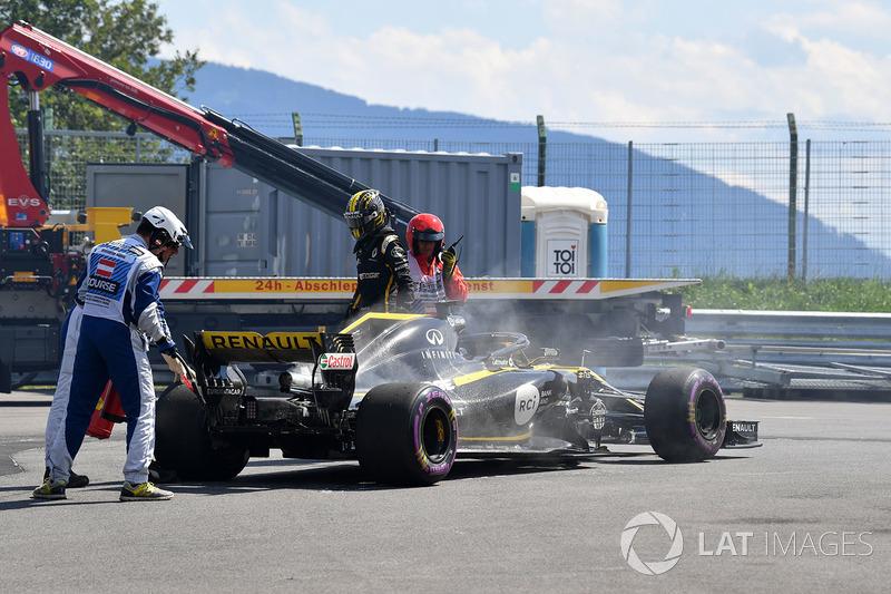 Abandono de Nico Hulkenberg, Renault Sport F1 Team R.S. 18