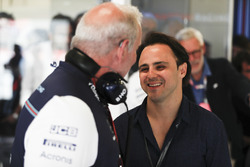 Felipe Massa pays a visit to his former team Williams