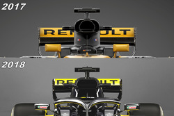 Airbox comparación Renault F1 Team RS18 vs RS17