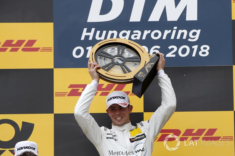 Podium: Race winner Paul Di Resta, Mercedes-AMG Team HWA