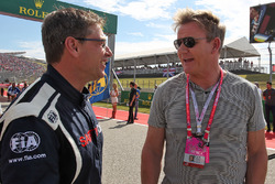 (L to R): Bernd Maylander, FIA Safety Car Driver with Gordon Ramsey, Celebrity Chef on the grid
