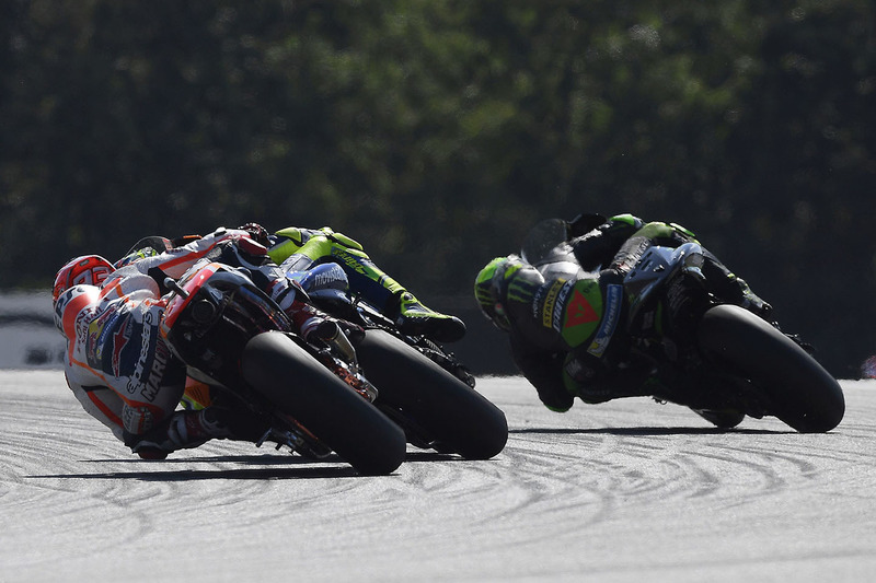Marc Marquez, Repsol Honda Team, Valentino Rossi, Yamaha Factory Racing, Pol Espargaro, Tech 3 Yamaha