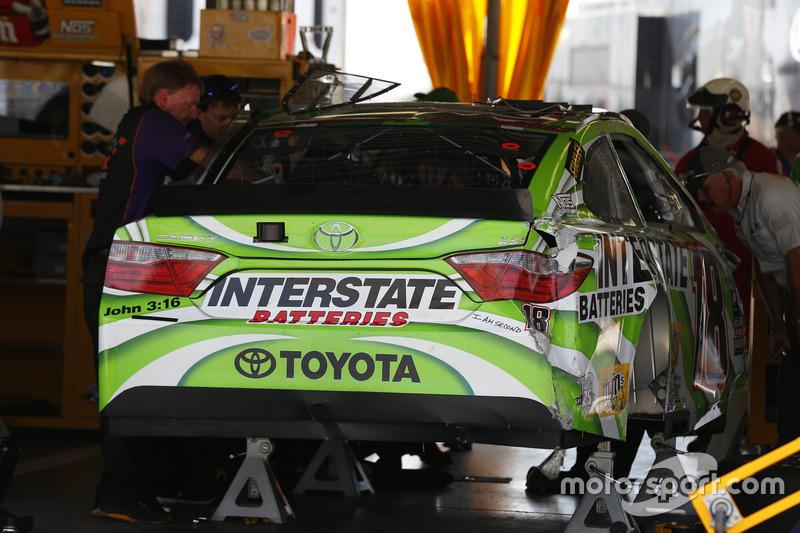 L'auto incidentata di Kyle Busch, Joe Gibbs Racing Toyota