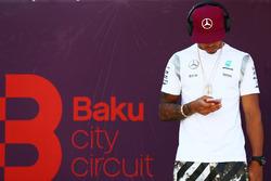Lewis Hamilton, Mercedes AMG F1 op de rijdersparade