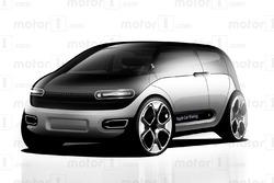 Designstudie des Apple-Autos
