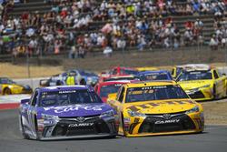 Denny Hamlin, Joe Gibbs Racing Toyota, Kyle Busch, Joe Gibbs Racing Toyota