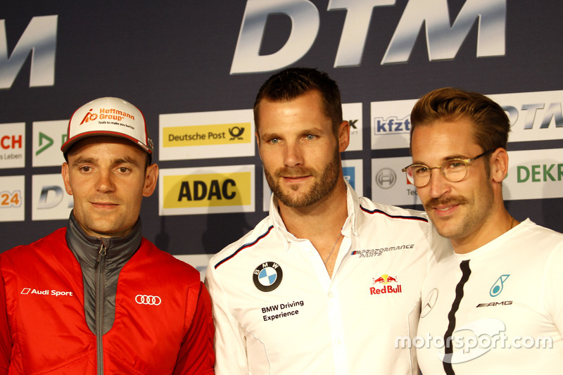 Conferenza stampa: Jamie Green, Audi Sport Team Rosberg, Audi RS 5 DTM; Martin Tomczyk, BMW Team Schnitzer, BMW M4 DTM; Maximilian Götz, Mercedes-AMG Team HWA, Mercedes-AMG C63 DTM