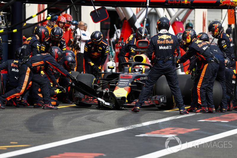 Піт-стоп Даніеля Ріккардо. Red Bull Racing RB14
