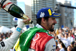 Lucas di Grassi, Audi Sport ABT Schaeffler, sprays the champagne on the podium