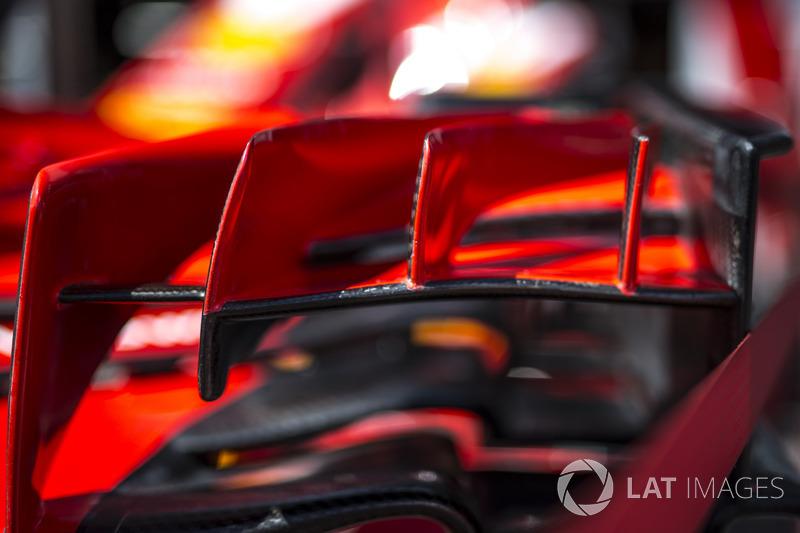 Detalle del alerón delantero Ferrari SF71H