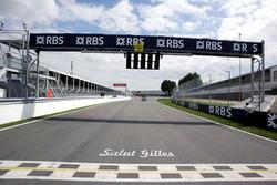 Start/Ziel in Montreal mit Erinnerung an Gilles Villeneuve
