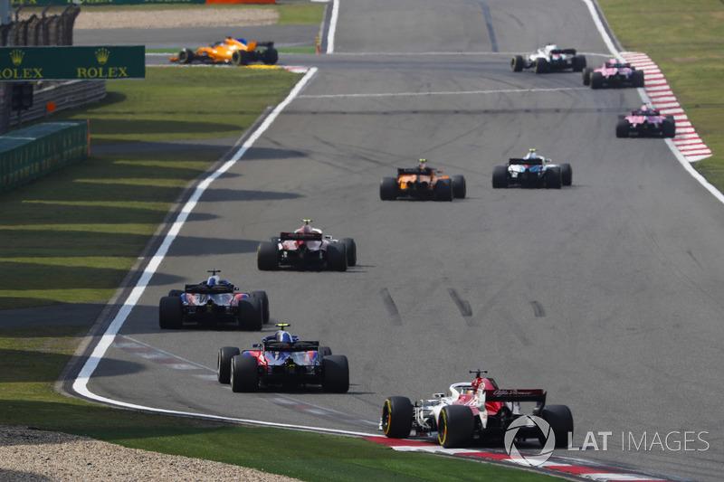 Sergey Sirotkin, Williams FW41 Mercedes, Stoffel Vandoorne, McLaren MCL33 Renault, Charles Leclerc, Sauber C37 Ferrari,Brendon Hartley, Toro Rosso STR13 Honda, Pierre Gasly, Toro Rosso STR13 Honda, y Marcus Ericsson, Sauber C37 Ferrari