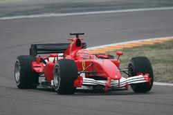 Michael Schumacher, shakes down the new 2006 Ferrari F1 car