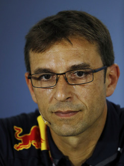 Pierre Wache, Chief Engineer, Red Bull Racing, in the Press Conference