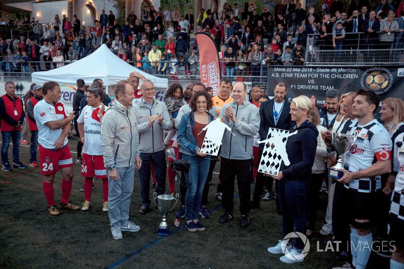 Presentazioni con HSH Principe Alberto di Monaco e Claudio Ranieri