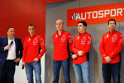 Yves Matton con i piloti Citroen WRC Kris Meeke e Craig Breen