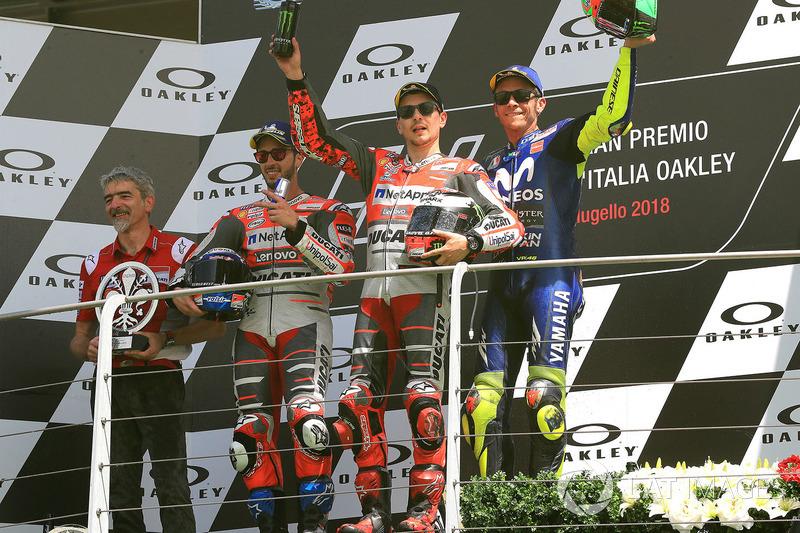 #6 GP de Italia - Podio: Jorge Lorenzo, Andrea Dovizioso, Valentino Rossi