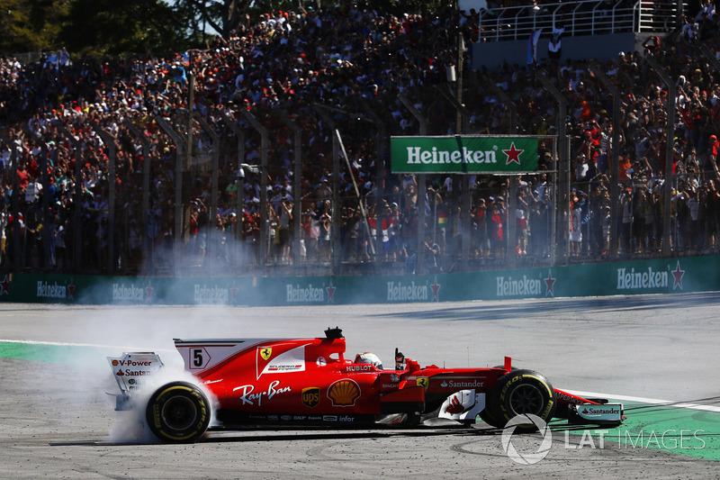 Vettel celebrates win
