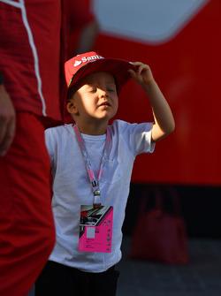 Robin Raikkonen, son of Kimi Raikkonen, Ferrari