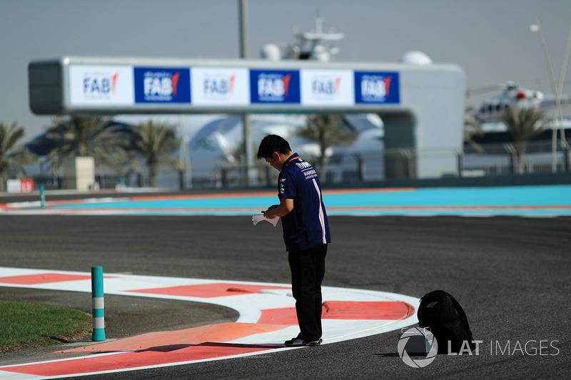 Jun Matsuzaki, ingénieur en charge des pneumatiques chez Force India