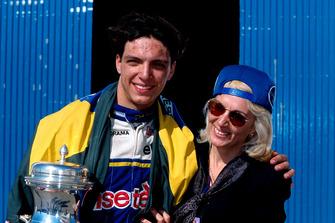 Tarso Marques, DAMS, avec sa mère